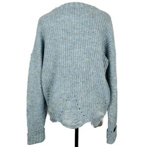 ruby moon Sweaters - Ruby Moon Light Blue & Gray Sweater Size Large